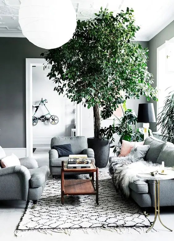 30 Green And Grey Living Room Décor Ideas Digsdigs Part 36