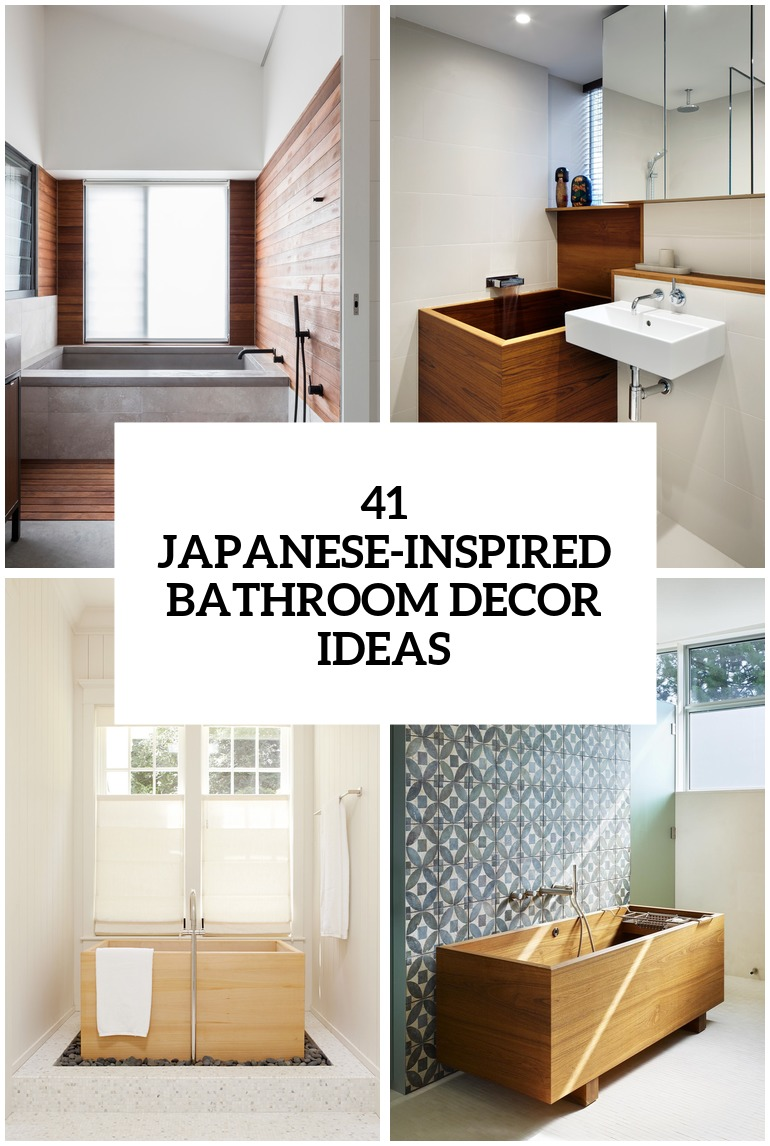 30 Peaceful JapaneseInspired Bathroom Dcor Ideas  DigsDigs