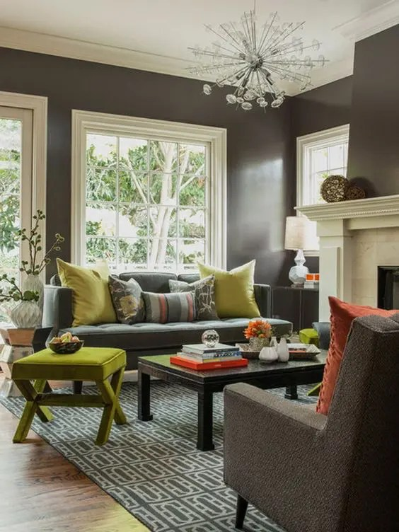 30 Green And Grey Living Room Décor Ideas Digsdigs Part 67