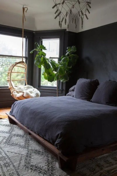 dark bedroom wall idea 26 Sexy Moody Bedroom Designs That Catch An Eye - DigsDigs