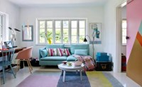 Colorful Home Office With A Mid-Century Modern Vibe - DigsDigs