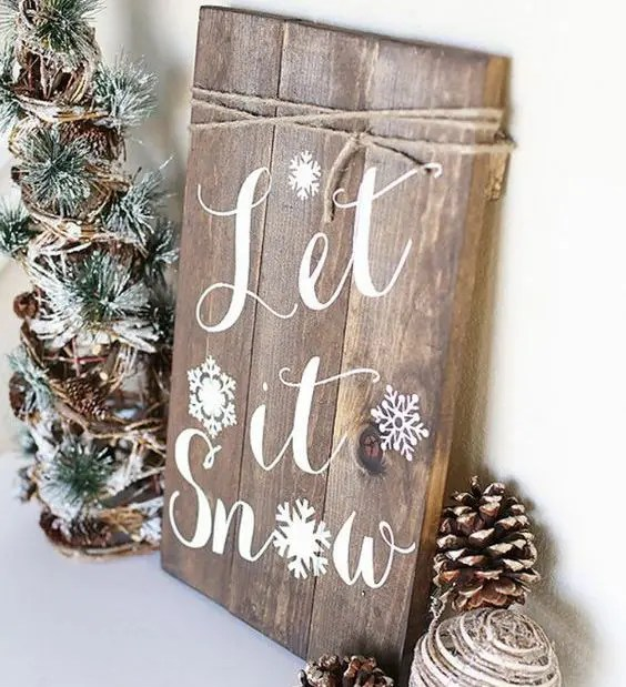 38 Reclaimed Wood Christmas Decor Ideas Digsdigssleigh Rides Hot Cocoa Wood Sign Winter Home Decor Christmas Sign Porch Decor Directional Arrow Holiday Decor Seasonal Decor Christmas Tree Sign Set Of Two