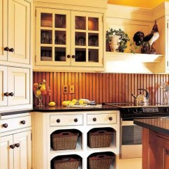 Slate Backsplash In Kitchen Barn House 25 Beadboard Backsplashes To Add A Cozy Touch ...