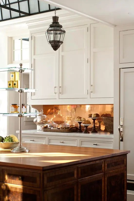 39 Trendy And Chic Copper Kitchen Backsplashes  DigsDigs