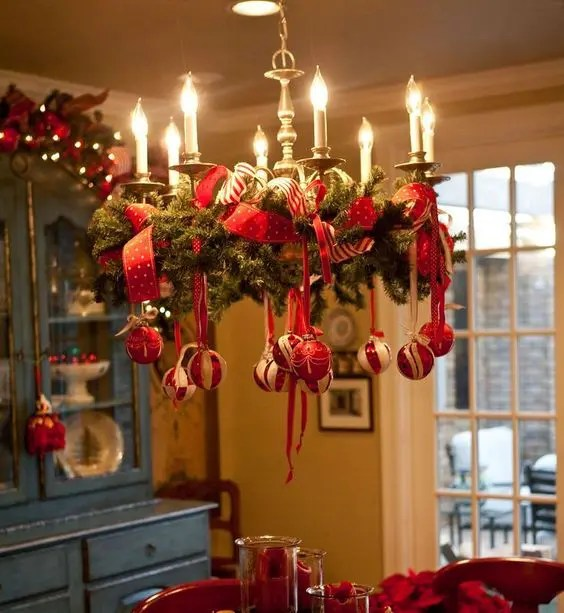 Decorate chandelier chandelier ideas 39 christmas chandeliers and chandelier decor ideas digsdigs aloadofball Images