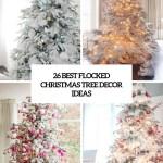 26 Best Flocked Christmas Tree Decor Ideas Digsdigs