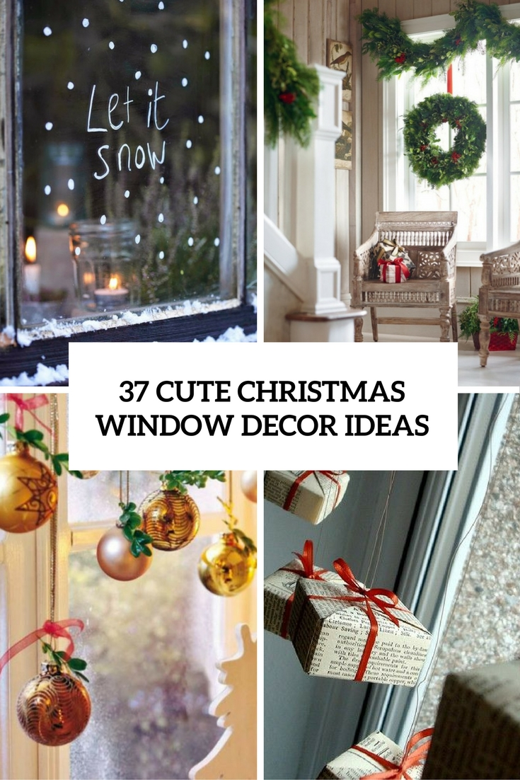 37 Cute Christmas Window Dcorations