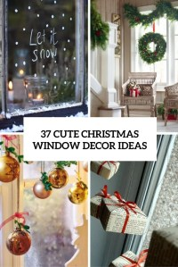 37 Cute Christmas Window Dcorations - DigsDigs