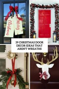 39 Christmas Door Dcor Ideas That Arent Wreaths - DigsDigs