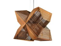 Pendant Lamp Made Up Of Laser Cut Rectangles - DigsDigs