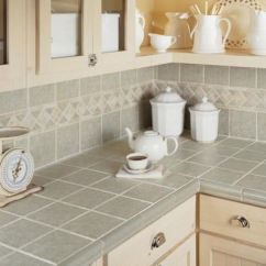 Tile For Kitchen Countertops Bar Hot Decor Trend 24 Digsdigs Grey Tiles On The Backsplash And With Beige Grout