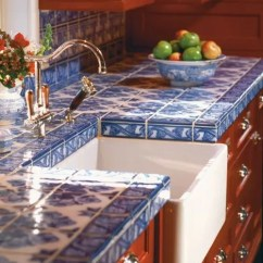 Movable Cabinets Kitchen Gooseneck Faucet With Pull Out Spray Hot Décor Trend: 24 Tile Countertops - Digsdigs