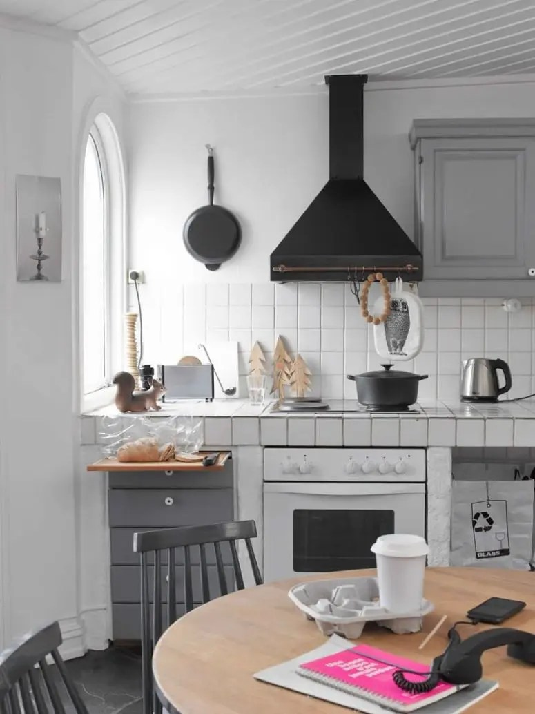 tile for kitchen countertops standard size cabinets hot decor trend 24 digsdigs retro scandinavian with white tiles and grey grout
