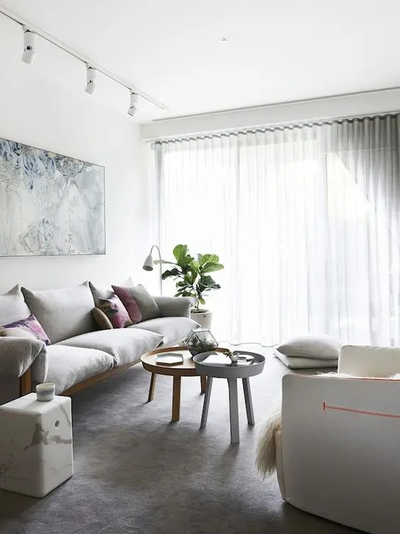 modern living room track lighting makeover ideas 32 cool and functional digsdigs whitewashed lights that highlight the artworks