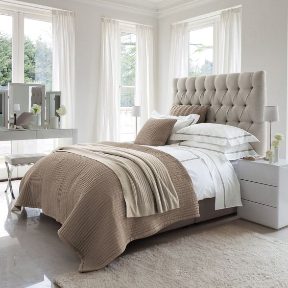 modern neutral bedroom design 30 Timeless Taupe Home Décor Ideas - DigsDigs