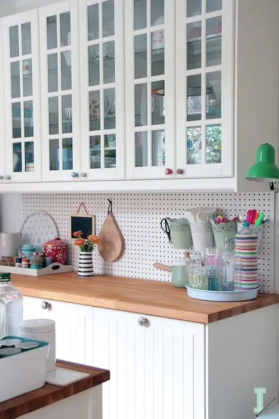 kitchen work station linoleum flooring 32 smart and practical pegboard ideas for your home - digsdigs