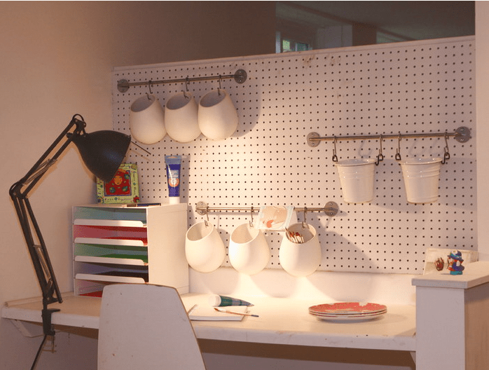kitchen pegboard subway tile in 32 smart and practical ideas for your home - digsdigs