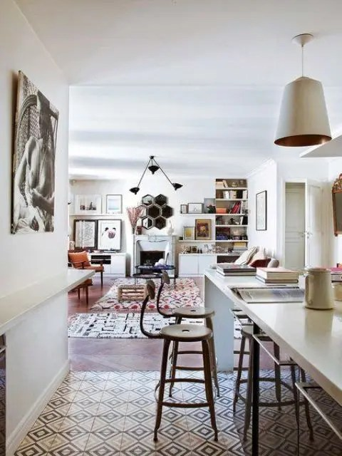 This Stunning Paris Apartment Was Decorated In Boho Chic Style Mixing Modern Western Furniture And Oriental