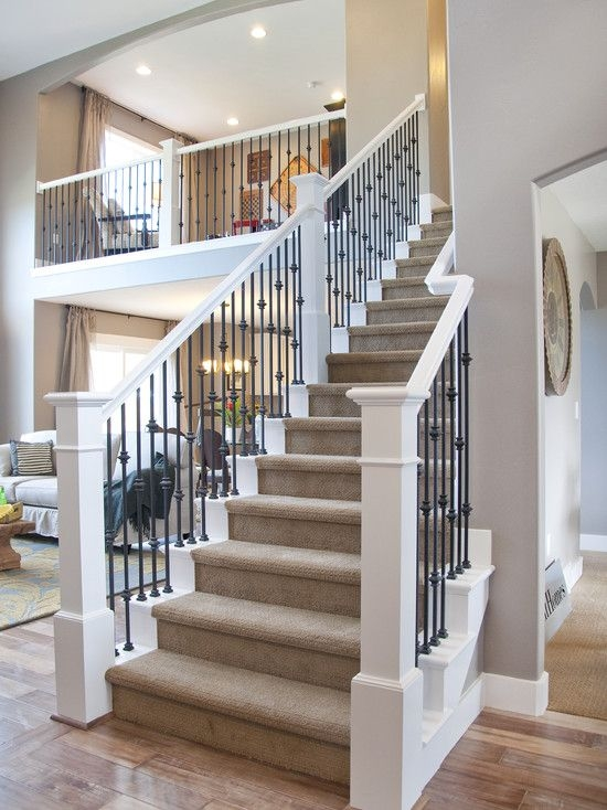 33 Wrought Iron Railing Ideas For Indoors And Outdoors | Iron And Wood Railing | Rod Iron | Interior | Deck | Custom | Horizontal