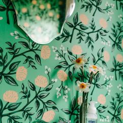 Floral Print Accent Chairs Cloth Office Decorating With Retro Wallpaper: 32 Eye-catchy Ideas - Digsdigs