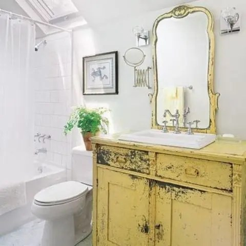 29 Vintage And Shabby Chic Vanities For Your Bathroom Digsdigs
