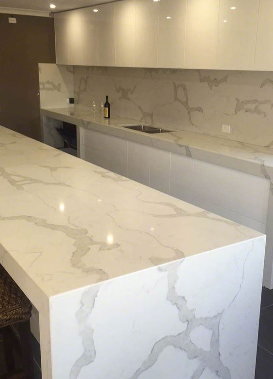 kitchen countertops quartz how to design the 29 ideas with pros and cons digsdigs minimalist white chic counters looking like marble