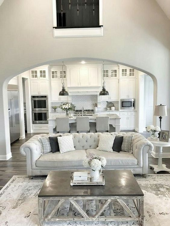layout open plan kitchen living room interior design for with 30 spacious and airy ideas digsdigs all white greys a grey silver an