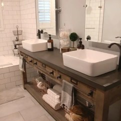 Kitchen Cabinet Spacing Sink Repair 34 Rustic Bathroom Vanities And Cabinets For A Cozy Touch ...