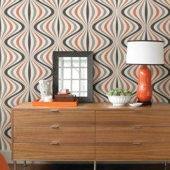 Orange Yellow And Brown Living Room Ideas Modern Ceiling Design For Decorating With Retro Wallpaper: 32 Eye-catchy ...