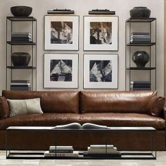 Leather Sectional Sofa Restoration Hardware Best Sleeper In The World 30 Masculine Living Room Furniture Ideas To Rock - Digsdigs