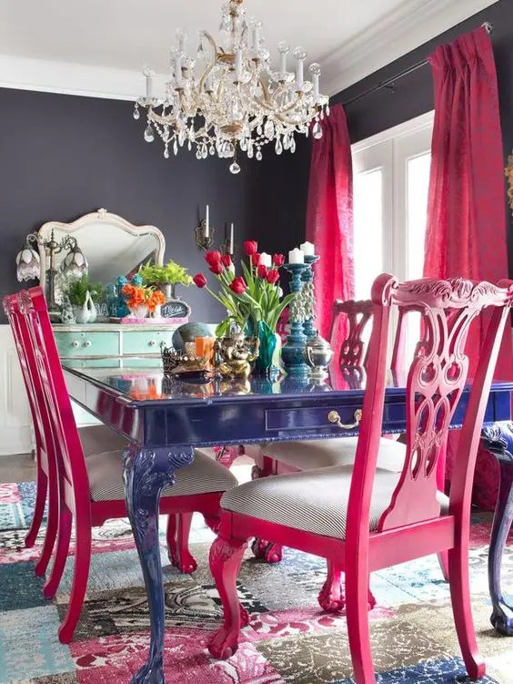 Blush Pink Living Rooms And Navy
