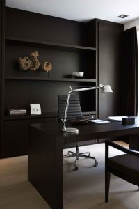 33 Chic Masculine Home Office Furniture Ideas - DigsDigs