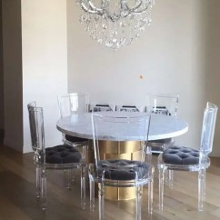 Chair Back Covers For Dining Room Chairs Windsor 33 Lucite And Acrylic Furniture Ideas Modern Spaces - Digsdigs