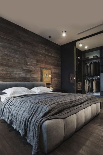 masculine bedrooms black bed 35 Masculine Bedroom Furniture Ideas That Inspire - DigsDigs