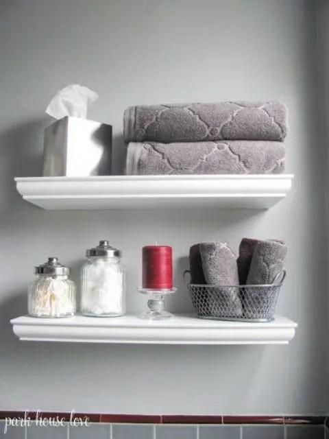 Bathroom Shelves Baskets