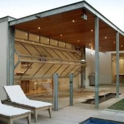 Garage Door Living Room Light 26 Glass Ideas To Rock In Your Interiors Digsdigs Bi Fold Doors Open The Outdoor Spaces