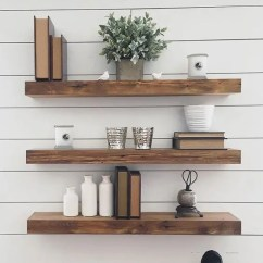 Oak Rocking Chair Plans Leather Living Room 35 Floating Shelves Ideas For Different Rooms - Digsdigs