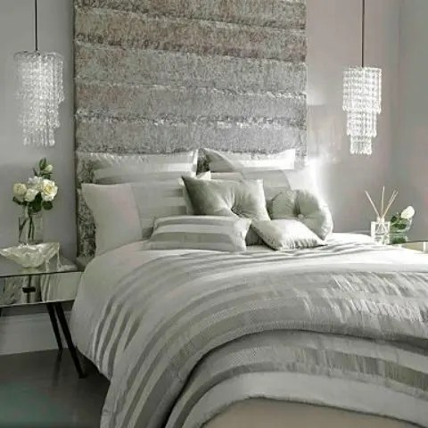 glam feminine bedroom 33 Bedroom Pendant Lamp Ideas That Inspire - DigsDigs