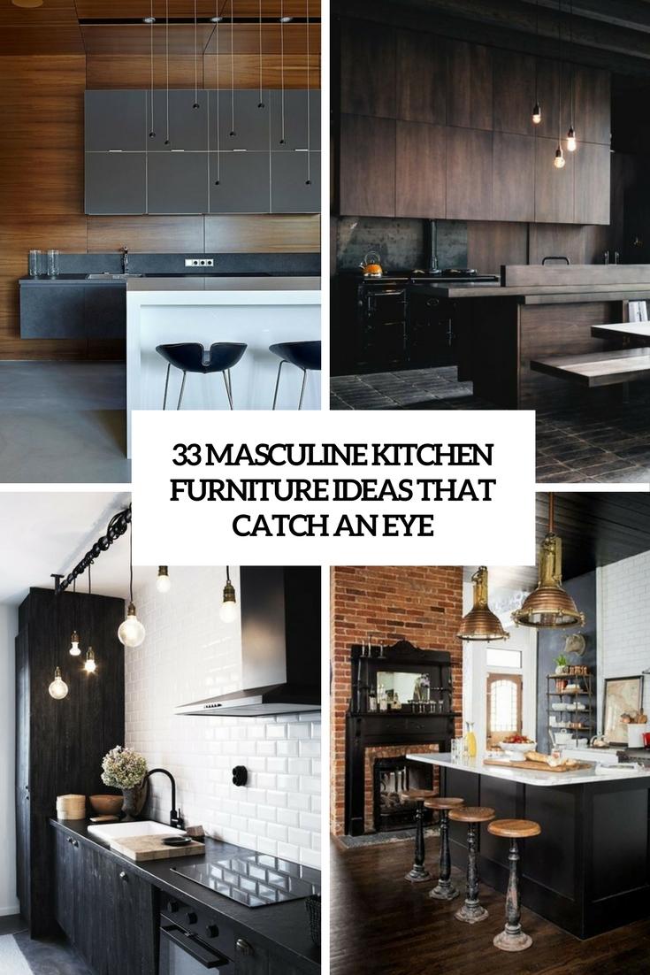 33 Masculine Kitchen Furniture Ideas That Catch An Eye