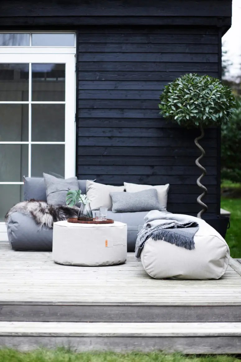 Practical And Comfy Bean Bag Outdoor Furniture Collection