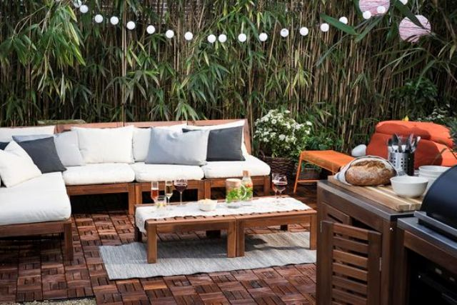 comfortable folding chairs rustic leather dining 30 outdoor ikea furniture ideas that inspire - digsdigs