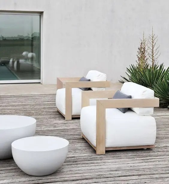 green garden chair covers tilting office 31 stylish modern outdoor furniture ideas - digsdigs