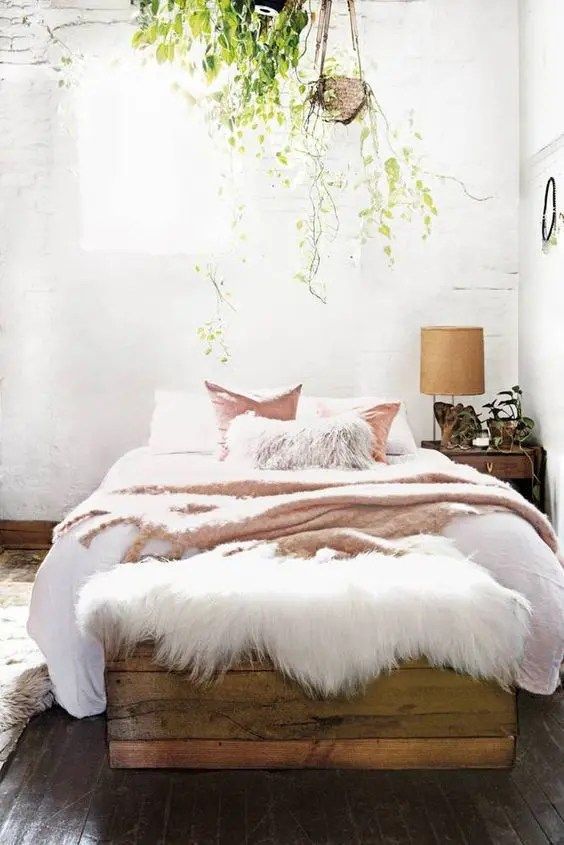 Make a striking headboard by papering large plywood panels with a … 3 Tips And 30 Ideas To Refresh Your Bedroom - DigsDigs