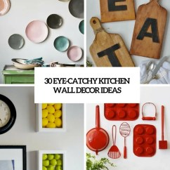 Kitchen Wall Hangings Metal Table Sets 30 Eye Catchy Decor Ideas Digsdigs Cover