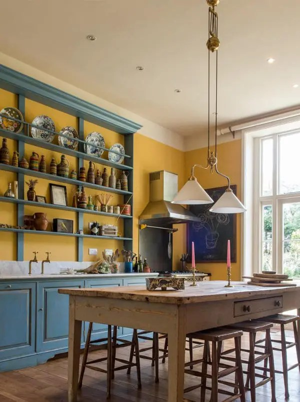 colors for kitchens ikea kitchen tables and chairs vintage english country in bold - digsdigs