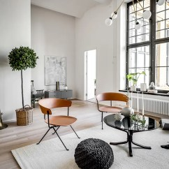 Wall Colors For Living Rooms 2017 Open Plan Kitchen Room Designs Chic Scandinavian Apartment In A Former Brewery - Digsdigs