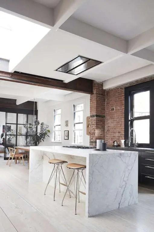 new york loft style living room couch set modern scandinavian meets industrial - digsdigs