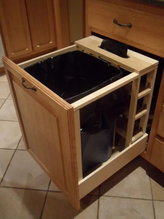 hide kitchen trash can double doors 29 sneaky ways to a in your - digsdigs