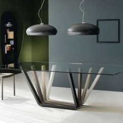 Leather Dining Chairs Modern Graco Doll Swing High Chair 30 Ways To Incorporate A Glass Table Into Your Interior - Digsdigs