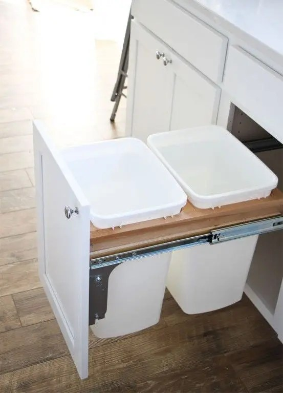 rustic kitchen cabinet aid mixers on sale 29 sneaky ways to hide a trash can in your - digsdigs